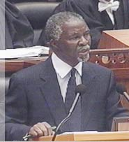 President Mbeki responds in Parliament to strong criticism of his HIV/AIDS policies.