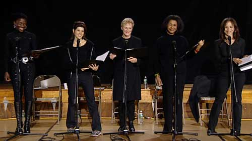 Actors Hazelle Goodman, Marisa Tomei, Glenn Close, Mary Alice and Rosie Perez