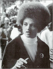 Photo: Kathleen Cleaver, speaking, in an undated photo from the 1960s.
