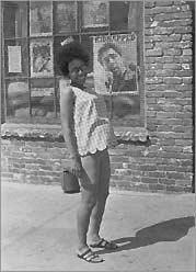 Photo: Barbara Easley outside the Philadelphia BPP Office, 1969