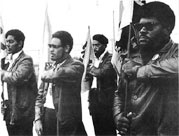 Photo: Elbert Howard poses with other Black Panthers in 1968