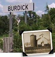 Burdick Town Sign