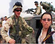 Stephanie Sinclair, a photojournalist for the Chicago Tribune, is told to continue towards Baghdad at her own risk by U.S. military forces days after the U.S. invasion of Iraq.