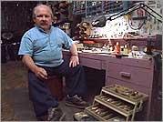 Len Sawisch in workshop
