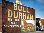 Signs for Bull Durham Tobacco once covered walls all over the country. Photo: Jack E. Boucher, National Park Service.
