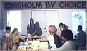 Chisholm volunteers at campaign headquarters