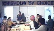 Chisholm volunteers at campaign headquarters