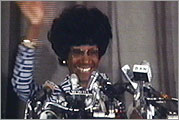 Shirley Chisholm at Brooklyn's Concord Baptist Church, January 25, 1972.