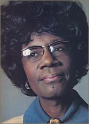 Color photo of Shirley Chisholm from Ms. Magazine article, 1973