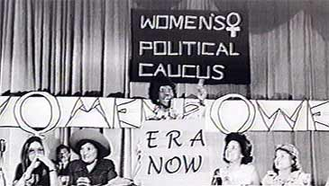 Chisholm '72 - Chisholm and Steinem (left) at the National Women's Political Caucus