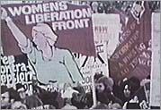 Women's movement march from early 1970s