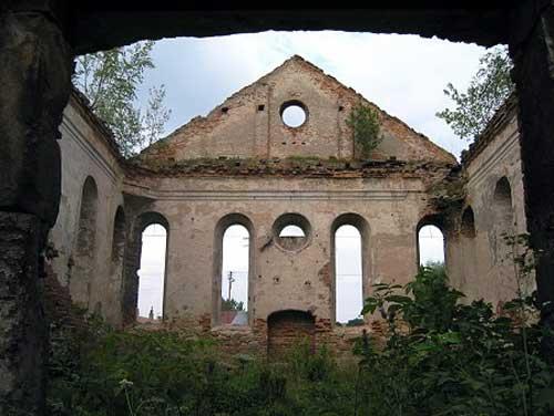 Abandoned synagogue in Dzialoszyce, Poland.