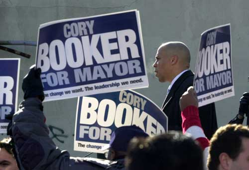 Street Fight - Cory Booker at a campaign in Newark, N.J.