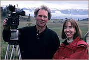 Director of Photography Blake McHugh with Director and Producer Patrice O'Neill on location in Montana