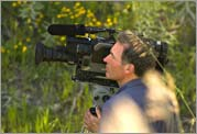 Blake McHugh shooting on location in Montana