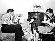 Family listening to radio. Courtesy of Library of Congress, Prints & Photographs Division