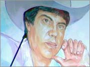 A mural painting of Chalino Sánchez.
