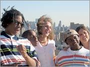 Boys of Baraka - Filmmakers Rachel Grady and Heidi Ewing with Baraka boys Montrey Moore, Devon Brown and Richard Keyser, Jr.