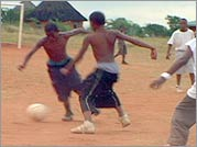 Boys of Baraka - With no televisions, radios or Game Boys, the boys entertain themselves by playing soccer in Africa.