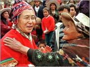 Alberto Fujimori in indigenous dress
