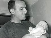 No Bigger Than a Minute - James Delano with an infant Steven
