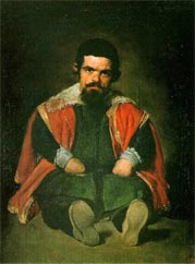 Sebastian de Morra, a dwarf attendant in the court of Philip IV of Spain, as painted by Diego Velázquez.