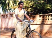 No More Tears Sister - Sharika on a bike