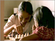 No More Tears Sister - Helene Klodawsky re-created the childhoods of Rajani and her sister Nirmala in several dialogue-free scenes.