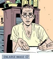 Jason Lutes self-portrait