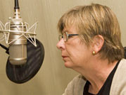 Waging a Living: Barbara Ehrenreich in the studio. Photo by Wend
