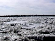 Melting ice in the Arctic Circle