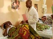 A doctor checks on Lumo