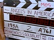 Wrestling With Angels - Angels in America clapboard