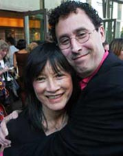 Wrestling With Angels - Tony Kushner and director Freida Lee Mock. Credit: Gary Leonard