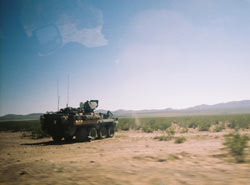 Tank on U.S.-Mexico border, taken by camera 11, Sherry in NM, Courtesy of Border Film Project