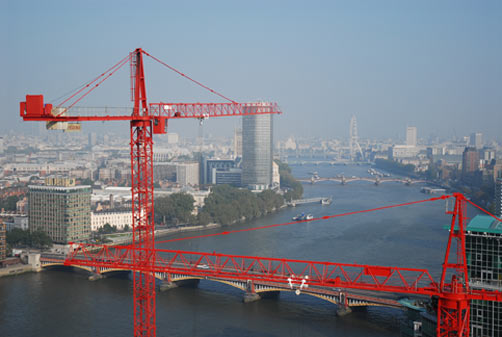 Crane with London Eye