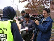 Election Day: Shanta Martin and film crew