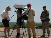 Soldiers of Conscience: Crew filming a soldier