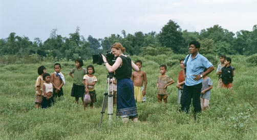 Ellen Kuras shooting the Betrayal in Laos, 1995