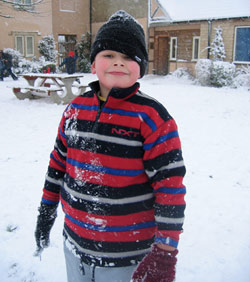 Ben in the snow
