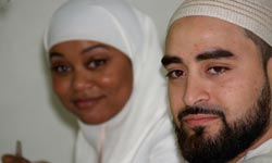 New Muslim Cool: Hamza and Rafiah at their wedding