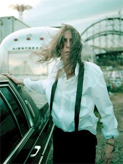 Patti near Cyclone. Coney Island, Brooklyn, NY. 1996.