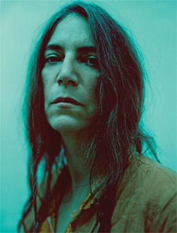 Patti Smith: A portrait of Patti, turquoise background