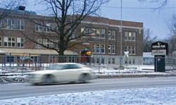 Exterior shot of Harvard Park Elementary School in Chicago