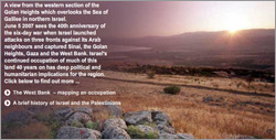 A screenshot of the first screen of the Guardian 40th anniversary of Six Day War