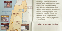 A screenshot of the first screen of the Washington Post 'Defining the Barrier' feature