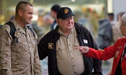 The Way We Get By: Jerry Mundy greeting troops