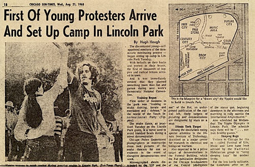 An article that appeared in the <em>Chicago Sun-Times</em>, Wed., Aug. 21, 1968