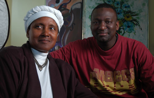 Yusef and mother jpg