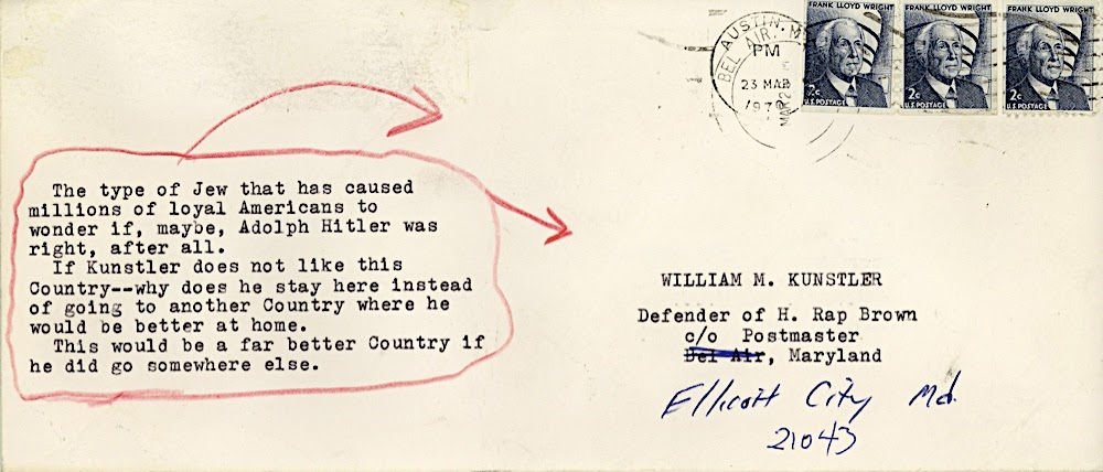 Disturbing the Universe: Hate Mail - From a Loyal American (envelope)